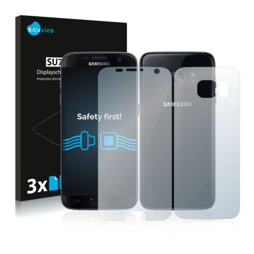6db-os Savvies SU75 kijelző és hátlapvédő fólia, Samsung Galaxy S7 típusú telefonhoz (első + hátsó)