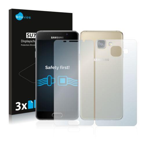 6db-os Savvies SU75 kijelző és hátlapvédő fólia, Samsung Galaxy A3 (2016) típusú telefonhoz (első + hátsó)