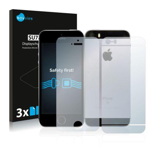 6db-os Savvies SU75 kijelző és hátlapvédő fólia, Apple iPhone SE típusú telefonhoz (első + hátsó)