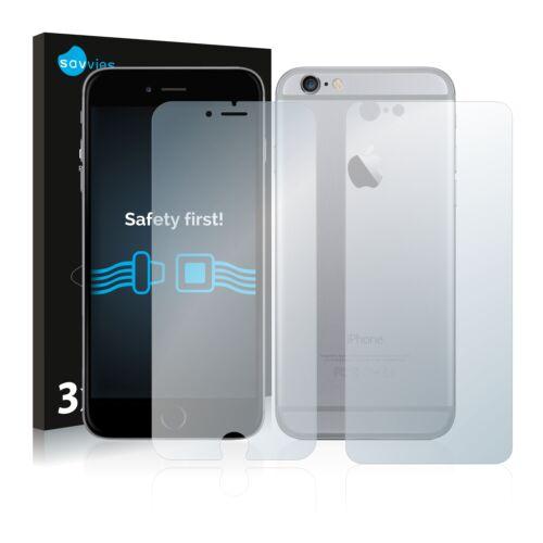 6db-os Savvies SU75 kijelző és hátlapvédő fólia, Apple iPhone 6S Plus típusú telefonhoz (első + hátsó)