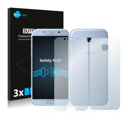 6db-os Savvies SU75 kijelző és hátlapvédő fólia, Samsung Galaxy A5 (2017) típusú telefonhoz (első + hátsó)