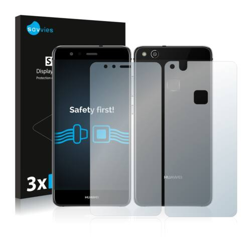 6db-os Savvies SU75 kijelző és hátlapvédő fólia, Huawei P10 Lite típusú telefonhoz (első + hátsó)