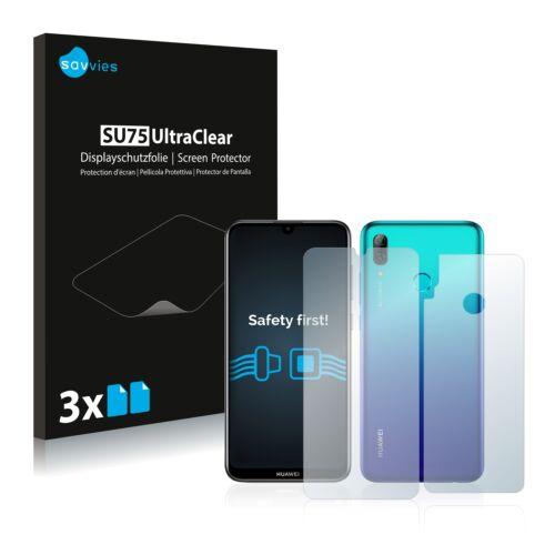 6db-os Savvies SU75 kijelző és hátlapvédő fólia, Huawei P smart 2019 típusú telefonhoz (első + hátsó)