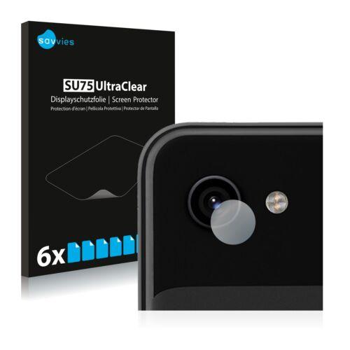 6db-os Savvies SU75 kameravédő fólia, Google Pixel 3a típusú telefonhoz