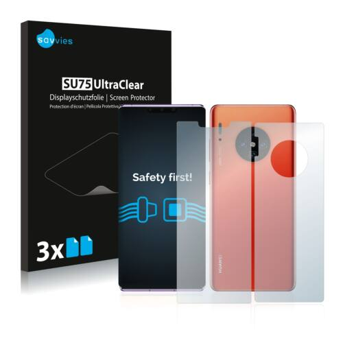 6db-os Savvies SU75 kijelző és hátlapvédő fólia, Huawei  Mate 30 Pro típusú telefonhoz (első + hátsó)