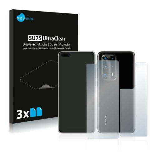 6db-os Savvies SU75 kijelző és hátlapvédő fólia, Huawei P40 Pro típusú telefonhoz (első + hátsó)
