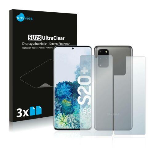 6db-os Savvies SU75 kijelző és hátlapvédő fólia, Samsung Galaxy S20 Plus 5G típusú telefonhoz (első + hátsó)