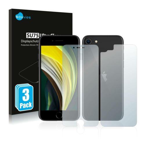 6db-os Savvies SU75 kijelző és hátlapvédő fólia, Apple iPhone SE 2 2020 típusú telefonhoz (első + hátsó)