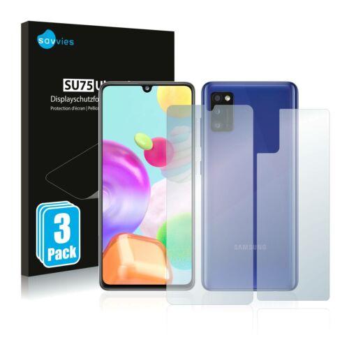 6db-os Savvies SU75 kijelző és hátlapvédő fólia, Samsung Galaxy A41 típusú telefonhoz (első + hátsó)