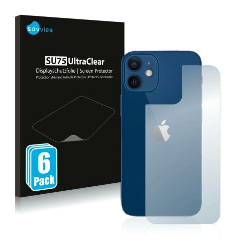 6db-os Savvies SU75 hátlapvédő fólia, Apple iPhone 12 típusú telefonhoz