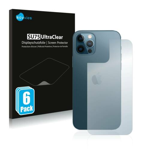 6db-os Savvies SU75 hátlapvédő fólia, Apple iPhone 12 Pro típusú telefonhoz
