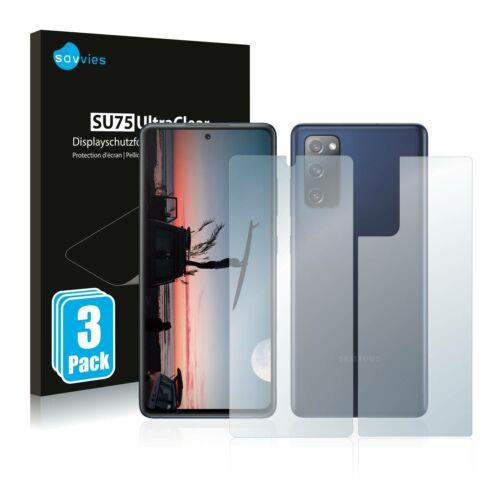 6db-os Savvies SU75 kijelző és hátlapvédő fólia, Samsung Galaxy S20 FE típusú telefonhoz (első + hátsó)