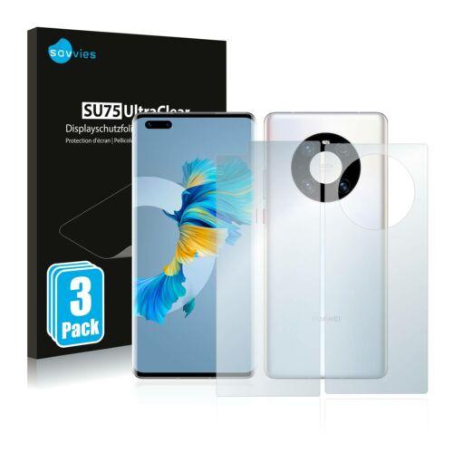 6db-os Savvies SU75 kijelző és hátlapvédő fólia, Huawei Mate 40 Pro típusú telefonhoz (első + hátsó)