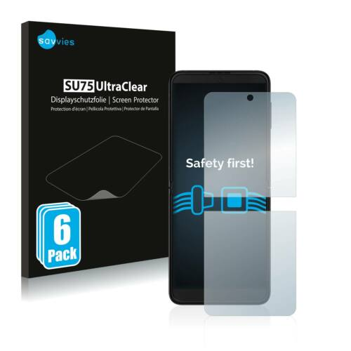 6db-os Savvies SU75 kijelzőfólia, Samsung Galaxy Z Flip 3 5G típusú telefonhoz