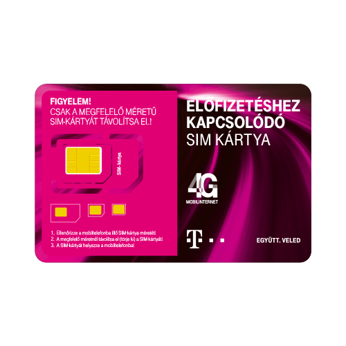 Telekomos Domino Fix Quick SIM kártya aktiválatlan (40perc + 500mb internet)