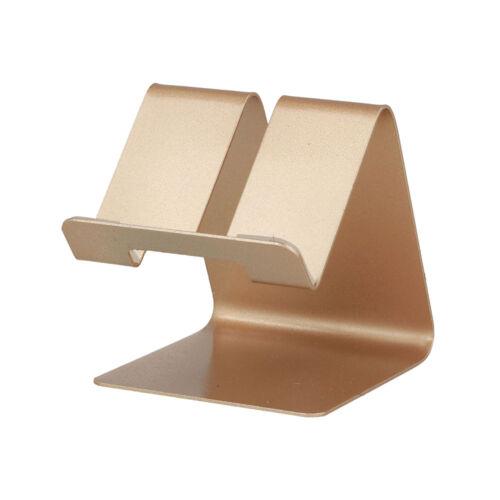 Asztali fém telefon és tablet tartó, állvány (63mm x 74mm x 70mm) (S014), arany