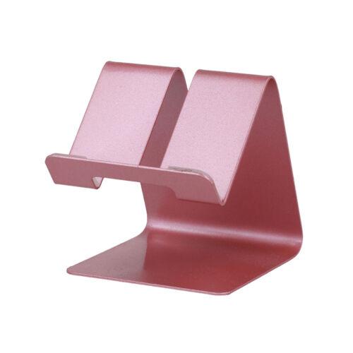 Asztali fém telefon és tablet tartó, állvány (63mm x 74mm x 70mm) (S014), pink