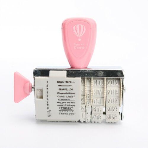 Dátumozó, kreatív, állítható bélyegző, pink