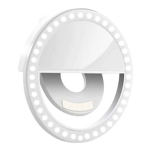Szelfi vaku, selfie gyűrű ledes világítással, fehér