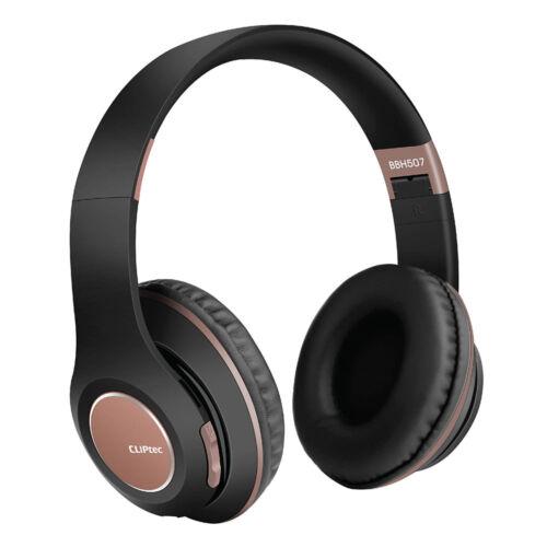 Cliptec Air Music bluetooth fejhallgató, headset (BBH507), barna