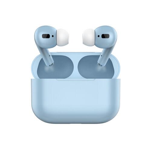 TWS i20 Air Pro, sztereó bluetooth 5.0 headset, power bank, lightning töltőcsatlakozóval (EDR), világos kék