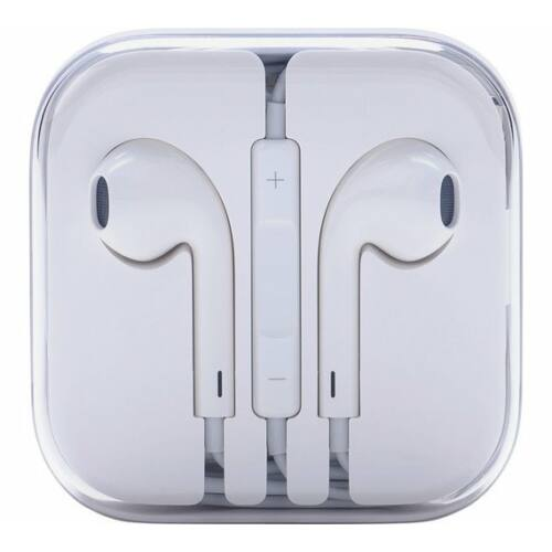 Apple Iphone 5, 6, utángyártott vezetékes sztereó headset, EarPods (3,5mm jack), fehér