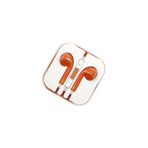 Apple Iphone 5, 6, utángyártott vezetékes sztereó headset, EarPods (3,5mm jack), narancs