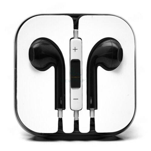 Apple Iphone 5, 6, utángyártott vezetékes sztereó headset, EarPods (3,5mm jack), fekete