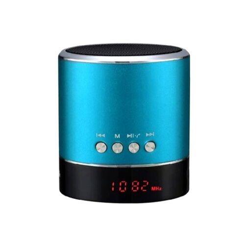 Mini bluetooth-os fém hangszóró rádióval (A38s), kék