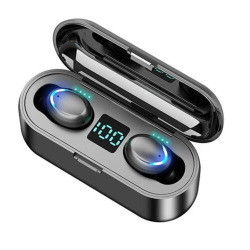 TWS Earbuds power bankos sztereó bluetooth headset (F9-5), fekete