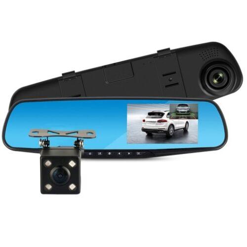 Autós, visszapillantó tükrös fedélzeti, menetrögzítő és tolatókamera (SJ54)