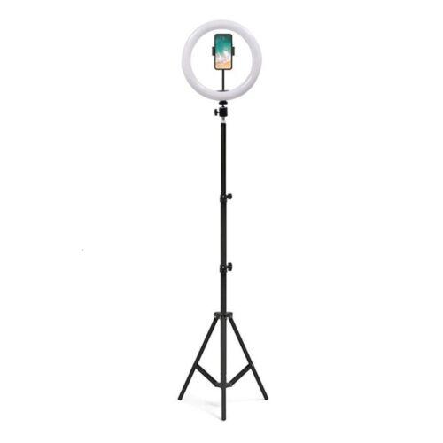 Tripod állvány fényképekhez, live videózáshoz Tik Tok ledes világítással (1,6 méter)