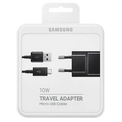 Samsung S6, S7, Note eredeti, gyári hálózati töltő adapter 1,2m Micro USB kábellel 2A (TA12EBE, DN925UBE) (BLISTER), fekete