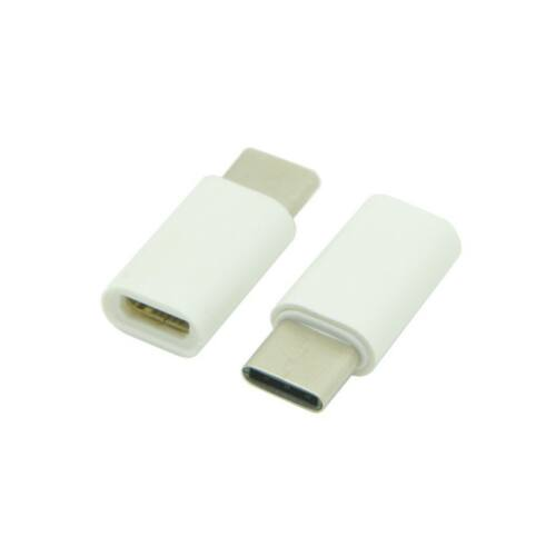 Type-c - Micro USB, átalakító adapter, fehér