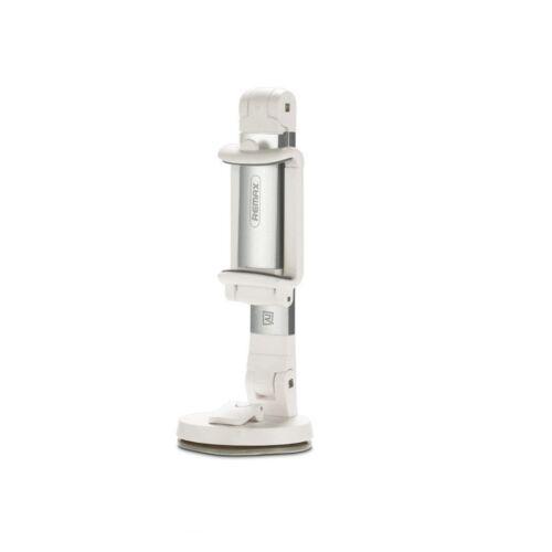 Remax állítható asztali és autós tartó, szilikonos tapadó koronggal (RM-C23), fehér-ezüst