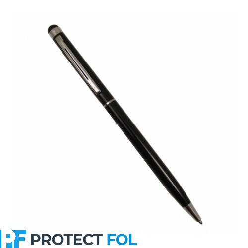 Kapacitív érintő ceruza és golyóstoll egyben, fekete