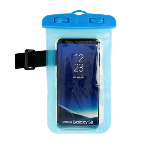 Vízálló, vízhatlan tok sportoláshoz, víz alatti fényképezéshez, hordozó zsinórral (max 160mm*90mm-es készülékhez), kék