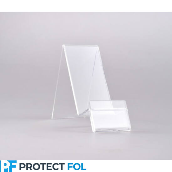 Asztali átlátszó plexi telefon tartó (80mmx40mmx90mm)
