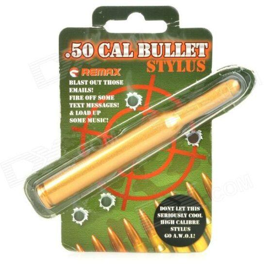 Remax Bullet töltény alakú kapacitív érintő ceruza, arany