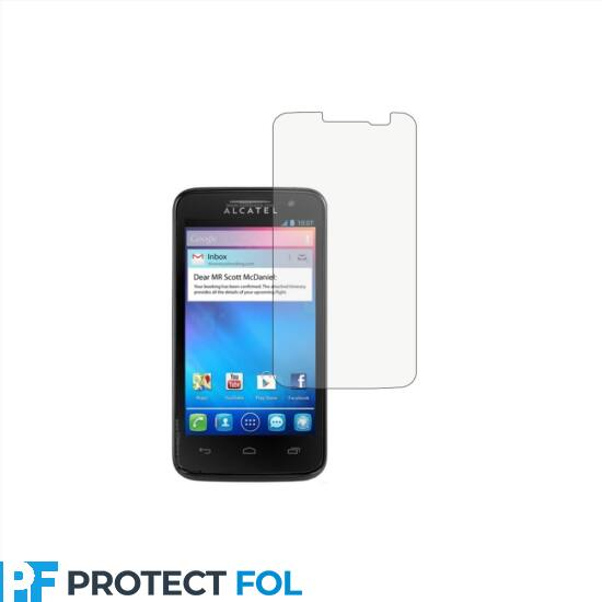 Alcatel One Touch S Pop (4030D, 4030) kijelzővédő fólia törlőkendővel (LCD fólia)
