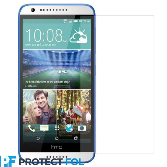 HTC Desire 620 kijelzővédő fólia törlőkendővel (LCD fólia)