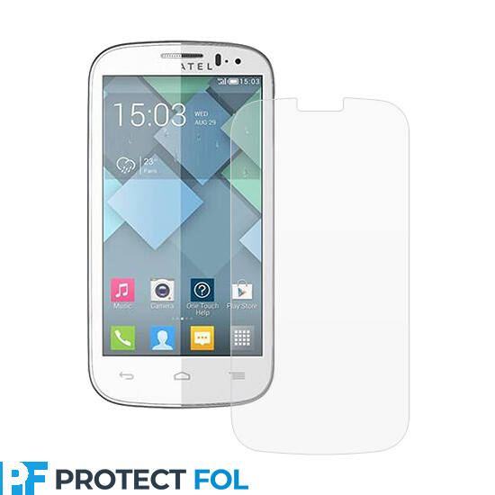 Alcatel One Touch Pop C5, (5036D) kijelzővédő fólia törlőkendővel (LCD fólia)