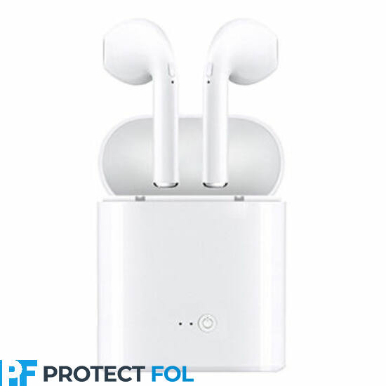 I7S TWS, sztereó bluetooth headset, power bank, (EDR), fehér