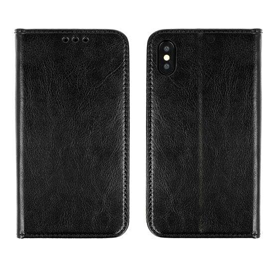 Samsung Galaxy J5 (2016), (J510), Book Special oldalra nyíló flip tok (eredeti olasz bőr), fekete