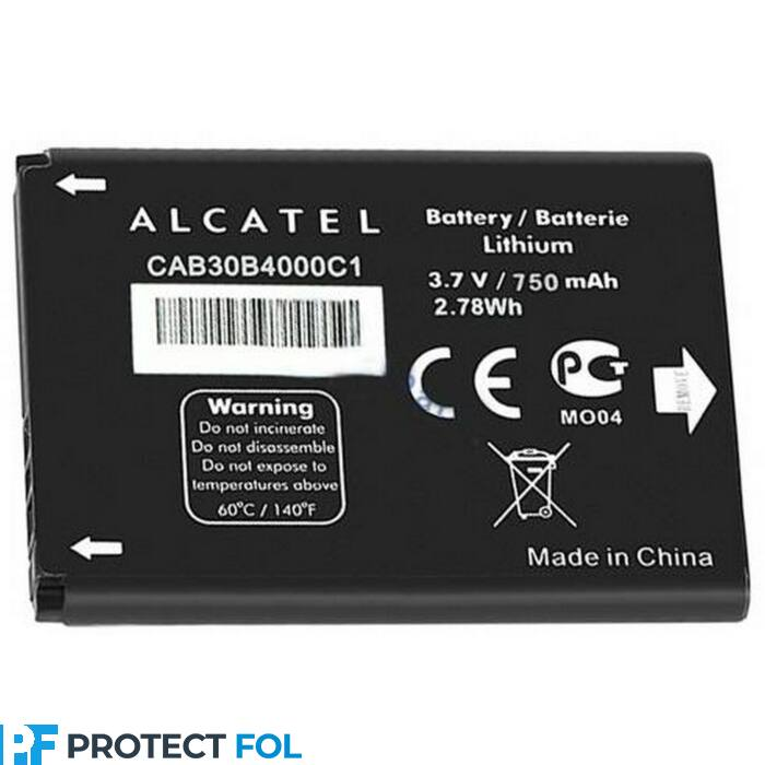 Alcatel OT-2010 gyári típusú akkumulátor, 750 mAh (CAB30B4000C1)
