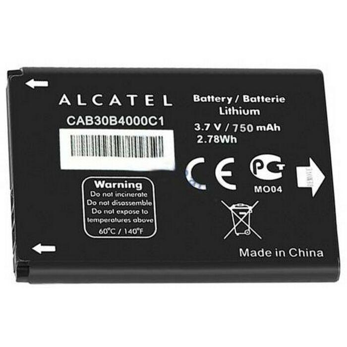 Gyári típusú akkumulátor Alcatel OT-2010 típusú készülékhez, 750 mAh (CAB30B4000C1)