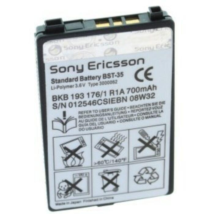 Sony Ericsson F500, T292a, Z502a, z200i, t290i, Z500, k700, gyári típusú akkumulátor, 700 mAh (BST-35)