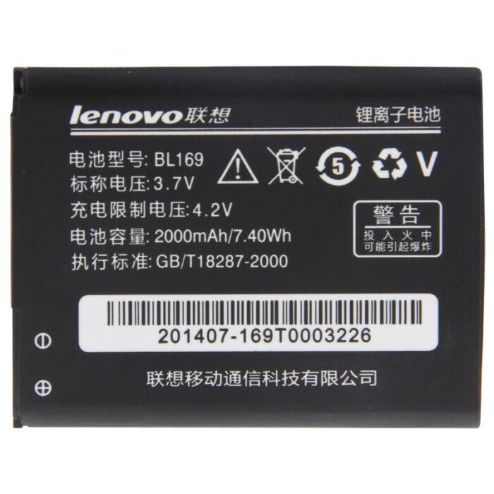 Lenovo P70, A5000, P1M, gyári típusú akkumulátor, 2000 mAh (BL169)