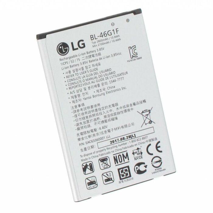 LG K10 (2017), (M250), gyári típusú akkumulátor, 2800 mAh (BL-46G1F)