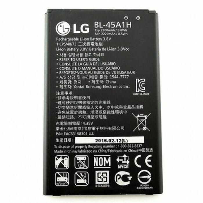 LG K10, (K420N), gyári típusú akkumulátor, 2300 mAh (BL-45A1H)